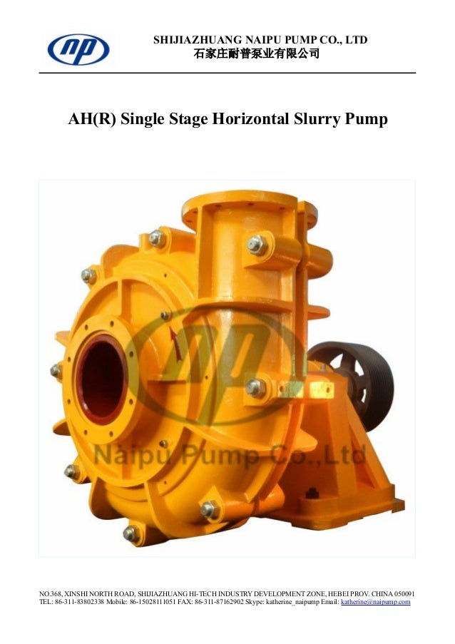 AH(R) Warman Slurry Pump and Spare Parts