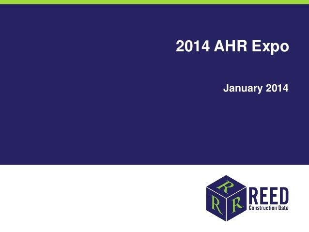 2014 AHR Expo January 2014