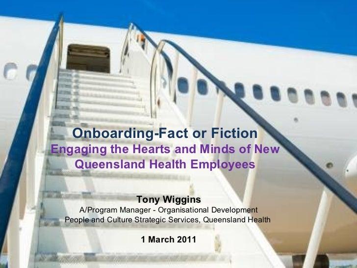 Onboarding in Queensland Health