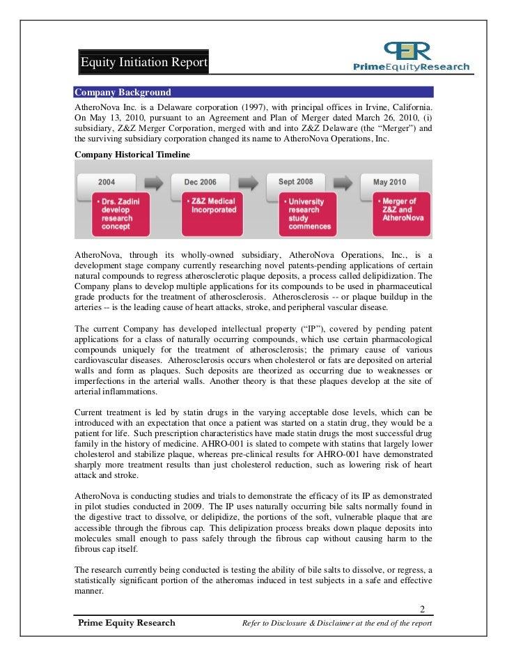 OTCBB: AHRO - Initiation of Coverage Dec. 7 2011 Slide 2