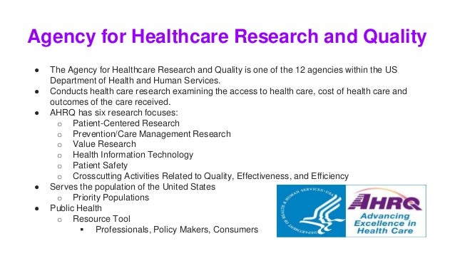 ahrq focus on research health care Ahrq research priority areas are described at candidates must conduct dissertation projects which focus on health care delivery in the united states.