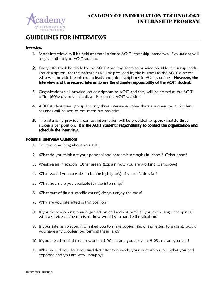 Ahs Aoit Internship Guide