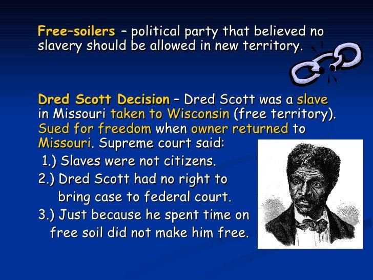 Dred scott decision date in Perth