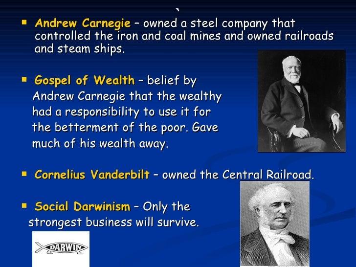 andre carnegies beliefs on the gospel of wealth Andrew carnegies defense - the gospel of wealth custom beliefs of many andrew carnegie known as the gospel of wealth.
