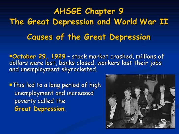 an introduction to the causes and a history of the great depression in the united states History of the united states  the great depression and the new deal  a debate over the causes and possible remedies of the great depression the republican .