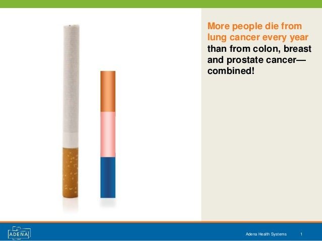 More people die fromlung cancer every yearthan from colon, breastand prostate cancer—combined!        Adena Health Systems...