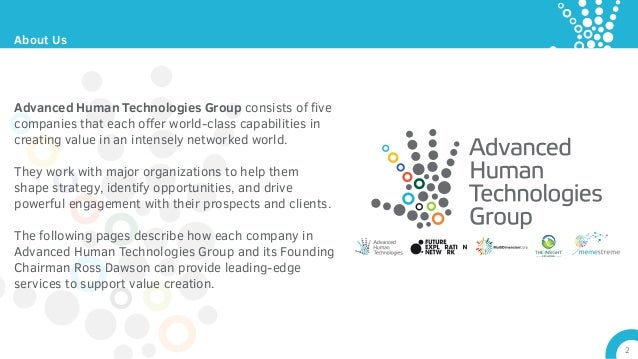 Strategy and Thought Leadership: Advanced Human Technologies Group Slide 2