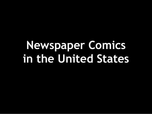 Newspaper Comics in the United States