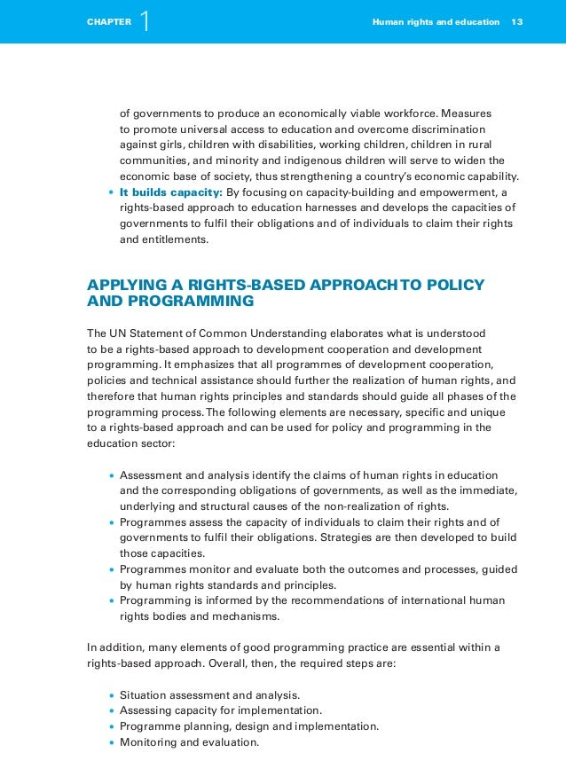 human rights based approach This brief explores the implications of the rights-based approach, or approaches,  (rba) in development cooperation and humanitarian assistance it reviews the.