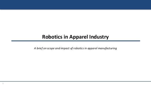 Robotics in Apparel Industry