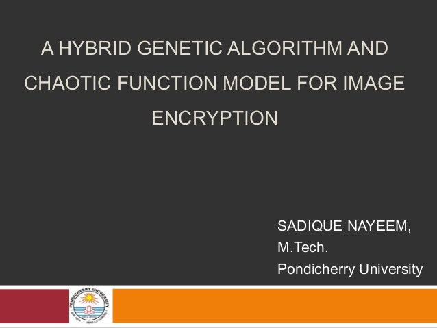 A hybrid genetic algorithm and chaotic function model for