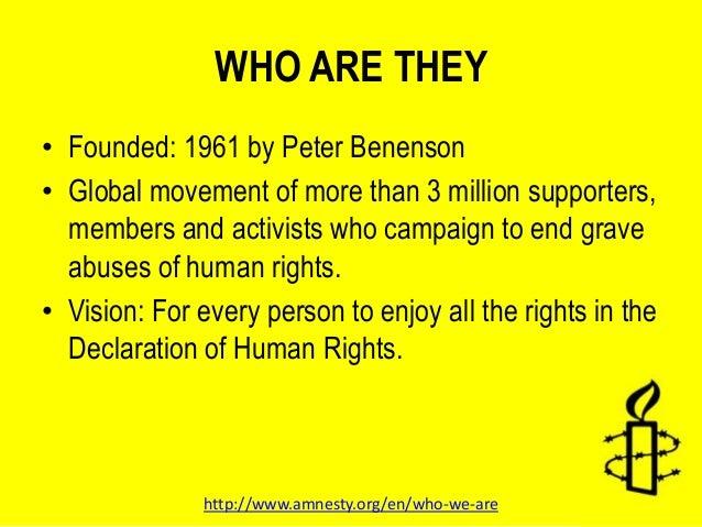 Pressure groups amnesty international essay