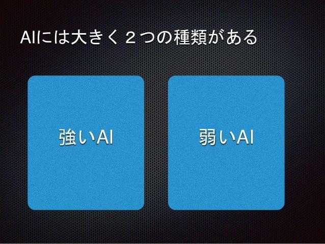 AIには大きく2つの種類がある 強いAI 弱いAI