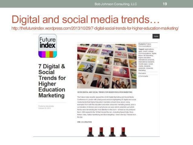 Digital and social media trends… http://thefutureindex.wordpress.com/2013/10/29/7-digital-social-trends-for-higher-educati...