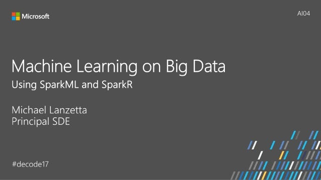 [AI04] Scaling Machine Learning to Big Data Using SparkML and SparkR Slide 2