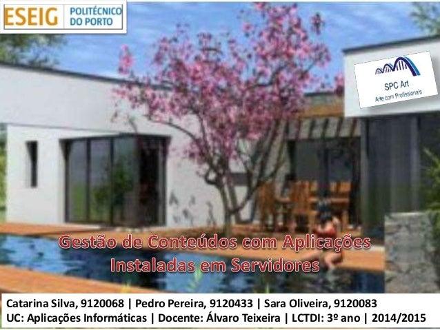 Catarina Silva, 9120068 | Pedro Pereira, 9120433 | Sara Oliveira, 9120083 UC: Aplicações Informáticas | Docente: Álvaro Te...