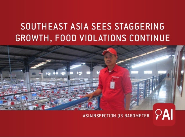 SOUTHEAST ASIA SEES STAGGERING GROWTH, FOOD VIOLATIONS CONTINUE ASIAINSPECTION Q3 BAROMETER