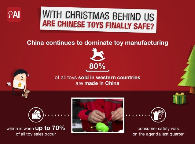 W ITH CHRIS TMAS BE HIND US  AR E CHINESE TOYS FINA LLY SAFE?  China continues to dominate toy manufacturing  80% of all t...