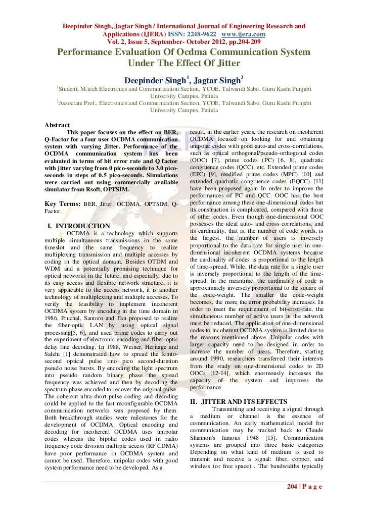 Deepinder Singh, Jagtar Singh / International Journal of Engineering Research and                       Applications (IJER...