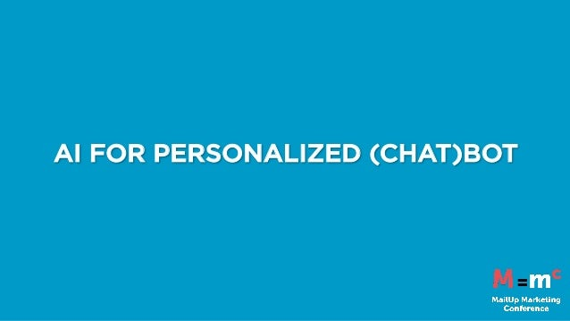 AI FOR PERSONALIZED (CHAT)BOT