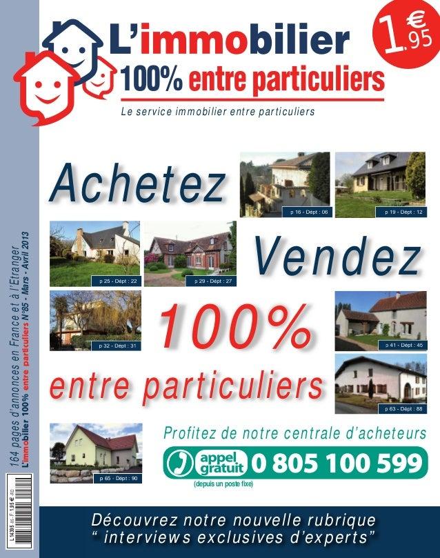 085APLIM_001_002_057APLIM_001_002.qxd 11/02/2013 17:44 Page 1  1  €  .95  Le service immobilier entre particuliers  164 pa...