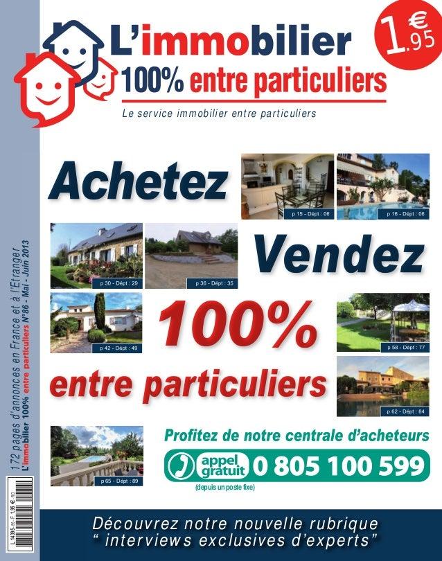 086APLIM_001_002_057APLIM_001_002.qxd 15/04/2013 15:13 Page 1  1  €  .95  Achetez 172 pages d'annonces en France et à l'Et...