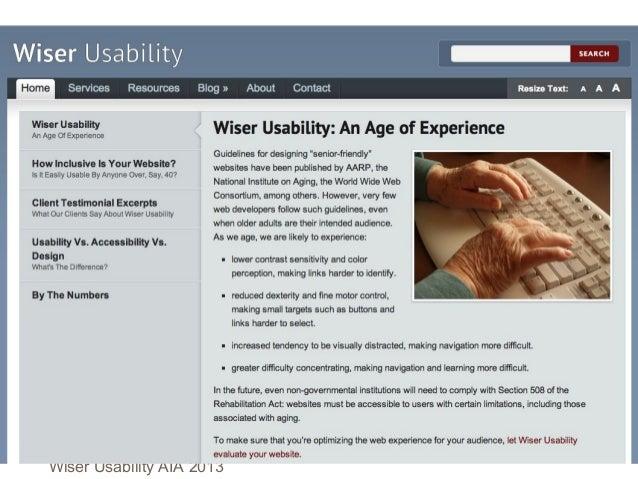 Websites for older adults