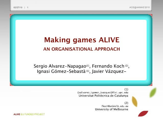 AIA Spring'2010 last class: Making games ALIVE