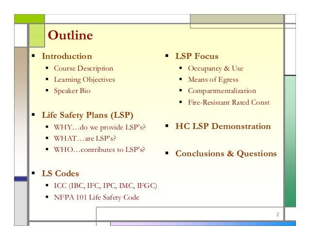 Developing Life Safety Plans For Health Care Facilities