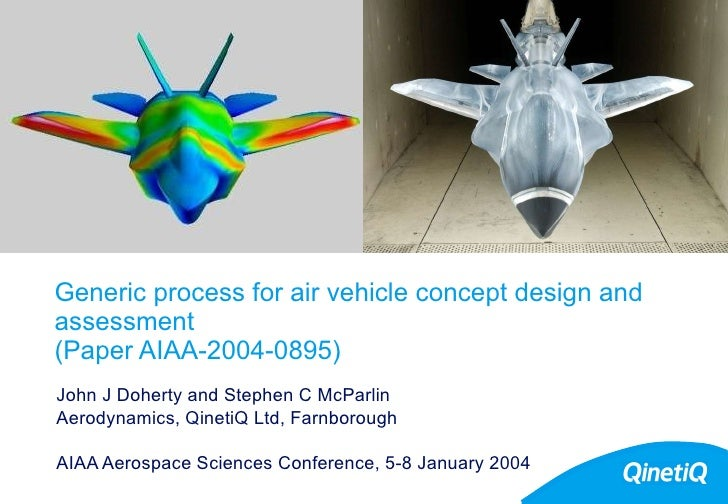 Generic process for air vehicle concept design and assessment  (Paper AIAA-2004-0895) John J Doherty and Stephen C McParli...