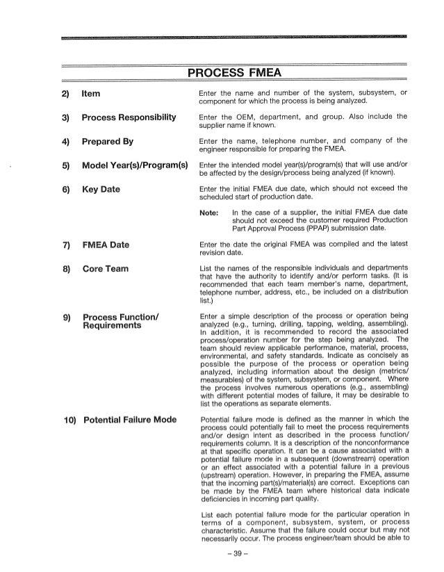 aiag fmea 3rd ed rh slideshare net AIAG FMEA 4th Edition AIAG SPC Manual