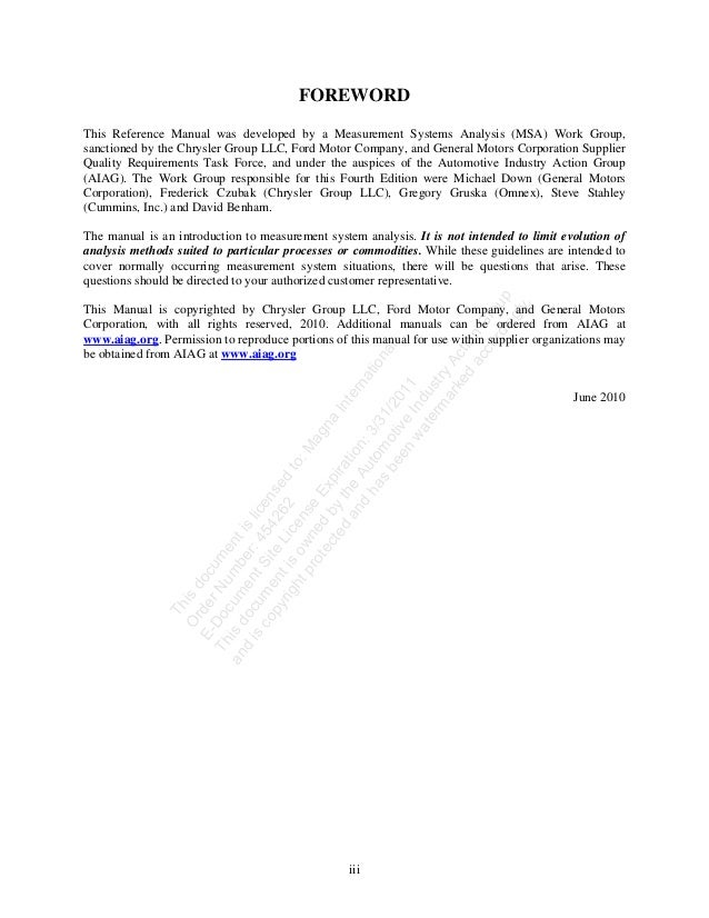 aiag msa 4th ed rh slideshare net aiag reference manual msa aiag msa manual pdf