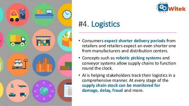 #4. Logistics • Consumers expect shorter delivery periods from retailers and retailers expect an even shorter one from man...