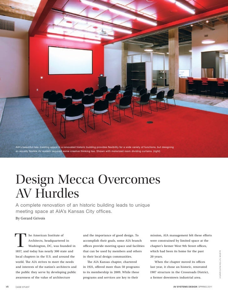AIA's beautiful new meeting space in a renovated historic building provides flexibility for a wide variety of functions, b...