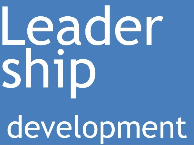 Leadershipdevelopment