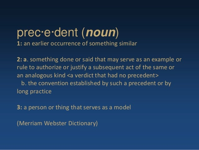 how to avoid a precedent