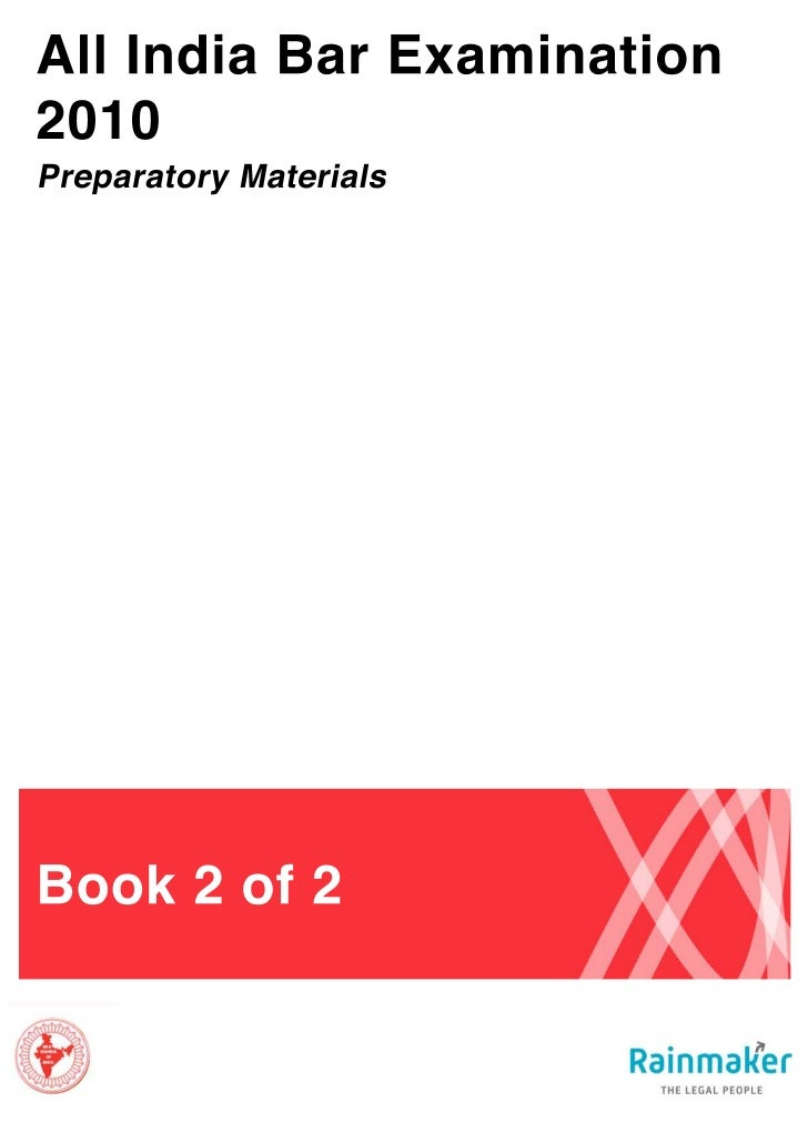 All India Bar Examination:Preparatory Materials, Book 2                                          Table of Contents     Sub...
