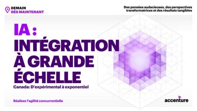 L'INTÉGRATION DE L'IA : LA CLÉ DE LA SURVIE ET DE LA CROISSANCE © Accenture 2019. Tous droits réservés. 2 75%84% 76% des c...