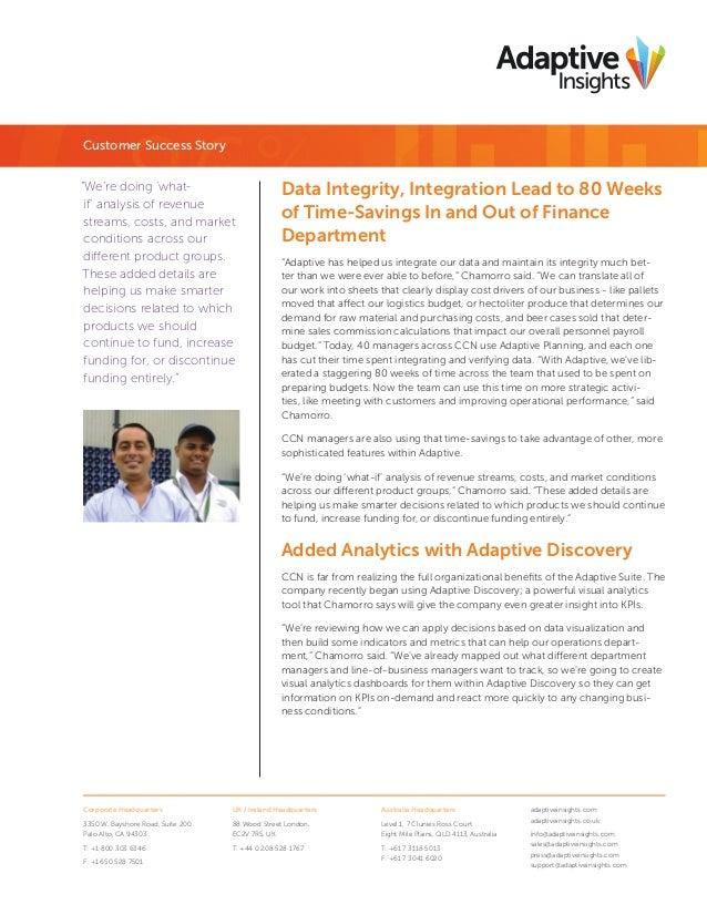 Adaptive Insights: CCN - A Customer Success Story Slide 3
