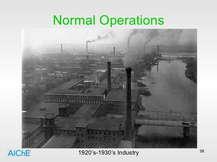 Normal Operations 1920's-1930's Industry