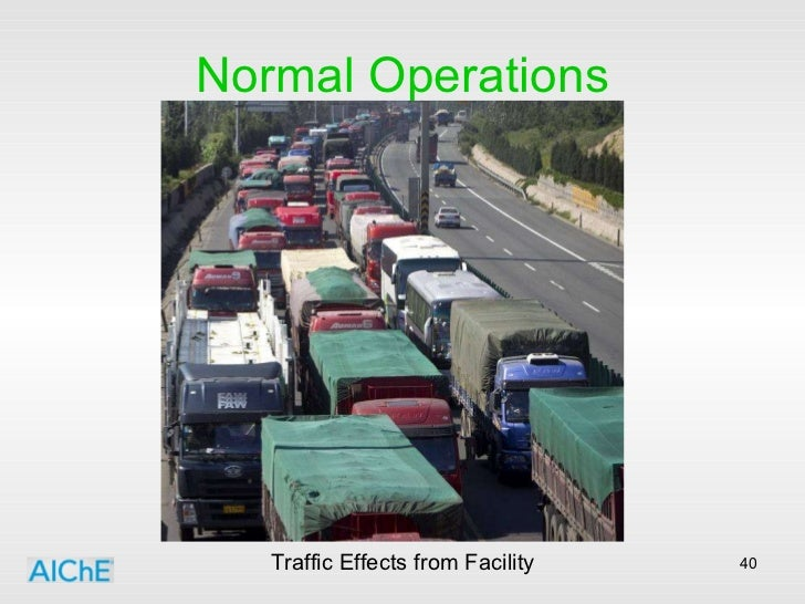 Normal Operations Traffic Effects from Facility