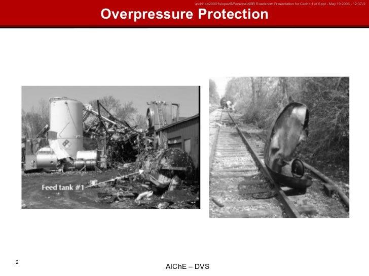 Ai Ch E Overpressure Protection Training Slide 2