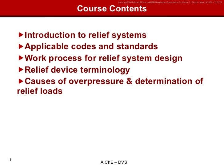 Ai Ch E Overpressure Protection Training Slide 3