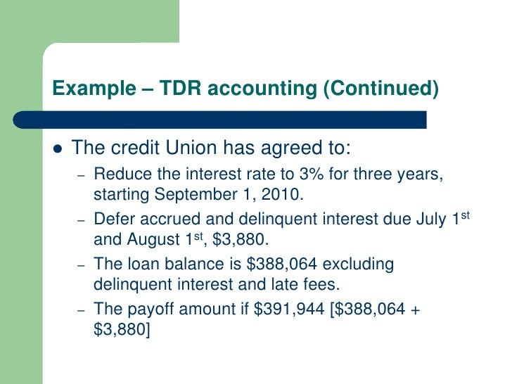 accounting for troubled debt restructurings