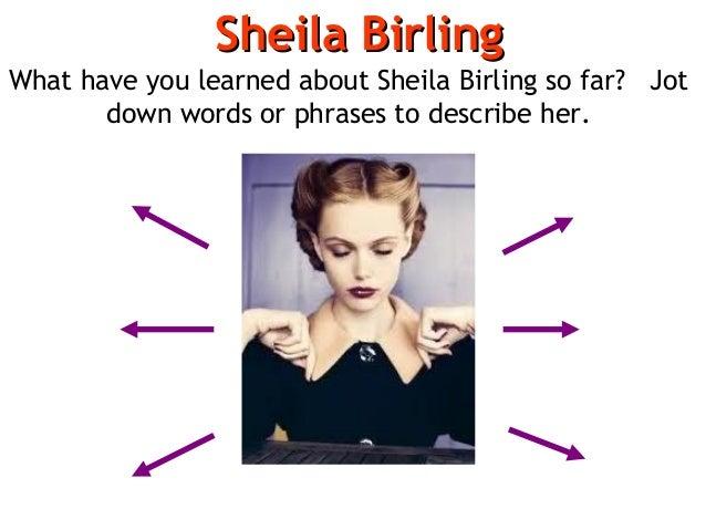 an inspector calls essay about sheila