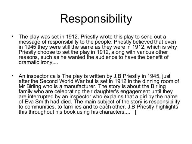 Analysis of An Inspector Calls, a Play by J. B. Priestley