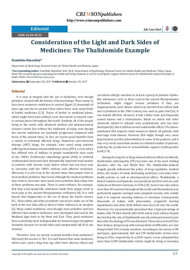 1/3 Editorial It is easy to imagine that the use of medicines, even though primitive, started with the history of human be...