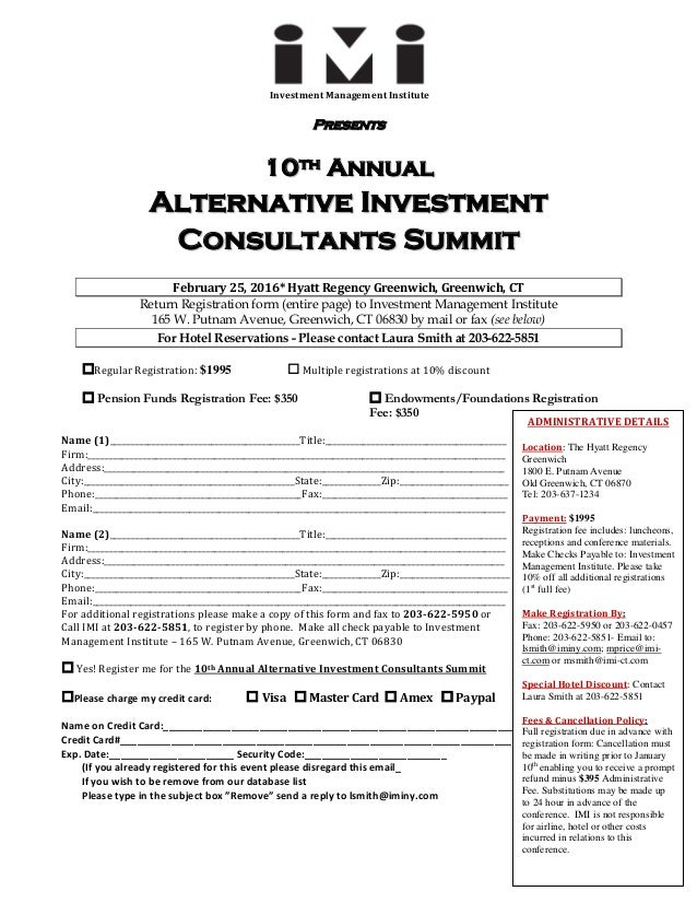 the investment management consultants association form