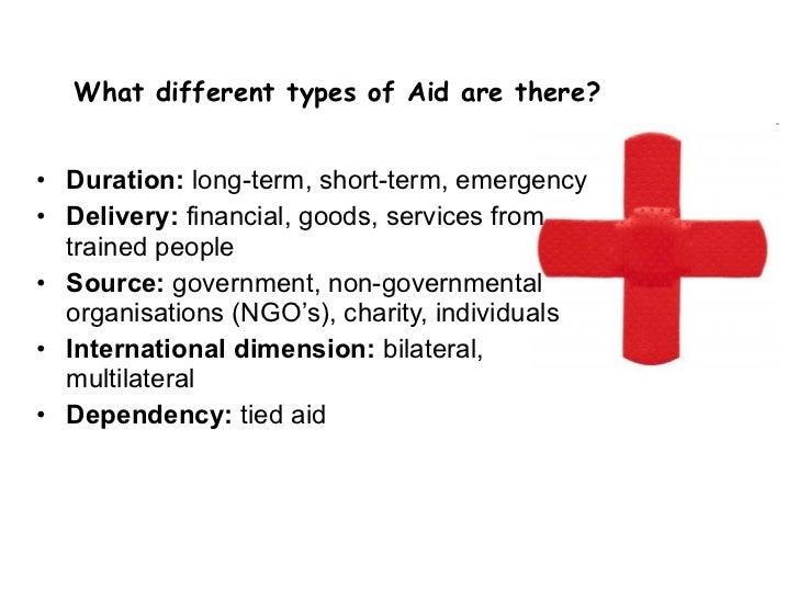 long term and short term aid