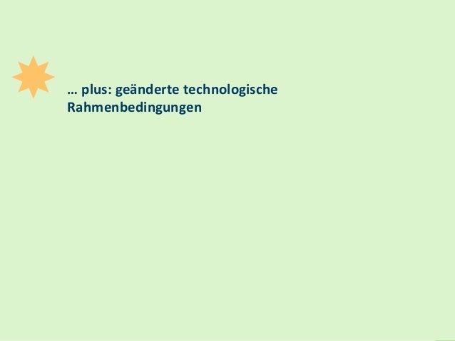 14 … plus: geänderte technologische Rahmenbedingungen